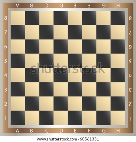 table of chess, vector illustration - stock vector