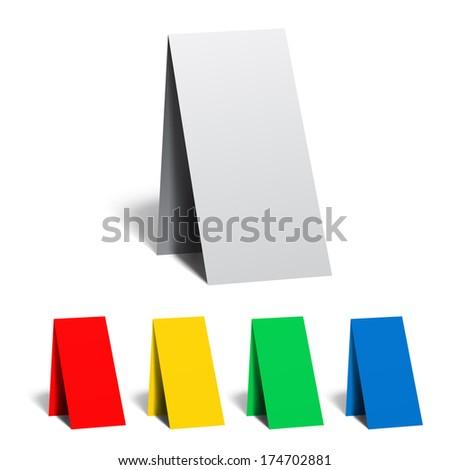 Table pointer, badge, sticker, advertising banner - stock vector