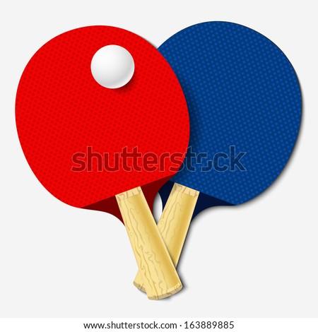 Table tennis bats. Vector illustration - stock vector