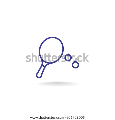 table tennis icon - stock vector