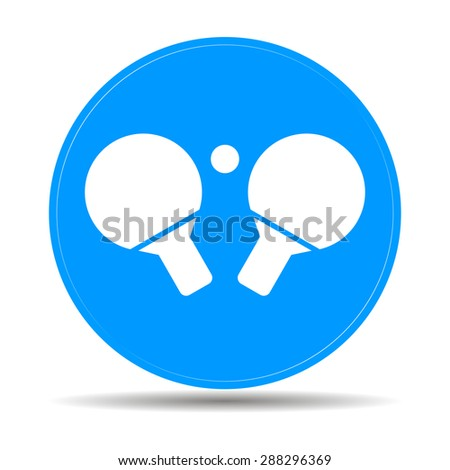 Table tennis icon. Flat design style eps 10 - stock vector