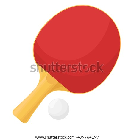 Table tennis rackets isolated on white background. Ball for the game of ping-pong.Vector illustration.