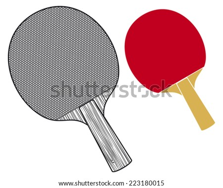 table tennis rackets (rackets for playing table tennis) - stock vector
