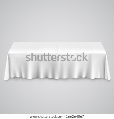 table tablecloth on white background template stock vector royalty