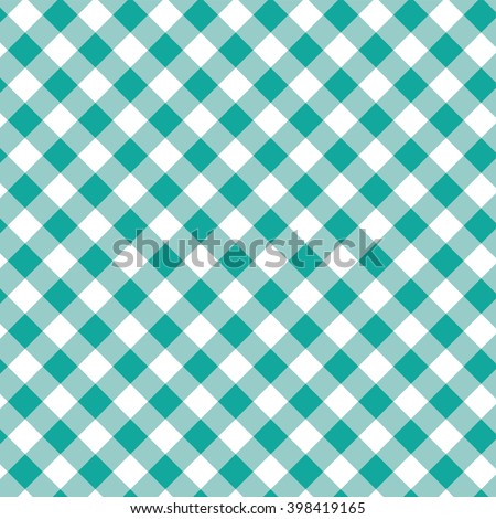 Tablecloth green diagonal - stock vector