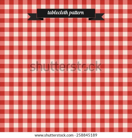 Tablecloth pattern. Flat style design - vector - stock vector