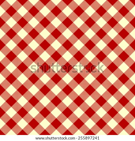 tablecloth - red checkered pattern - stock vector