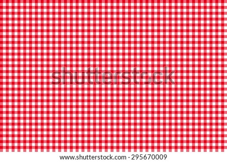 Tablecloth seamless pattern red vector illustration - stock vector