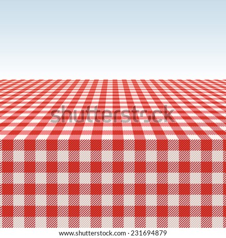 Tablecloth vector background. - stock vector