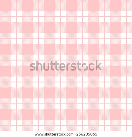 tablecloth woven texture - pink checkered pattern - stock vector
