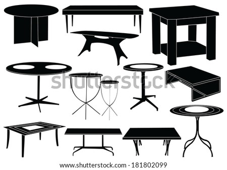 Tables - stock vector