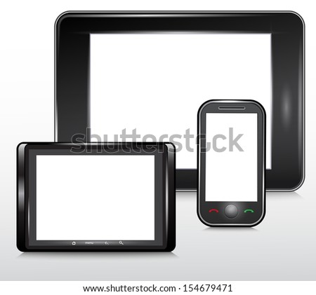 Tablet and Mobile Phone Icon , Vector