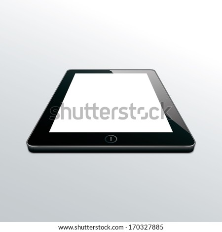 tablet black. perspective view. vector. eps10 - stock vector