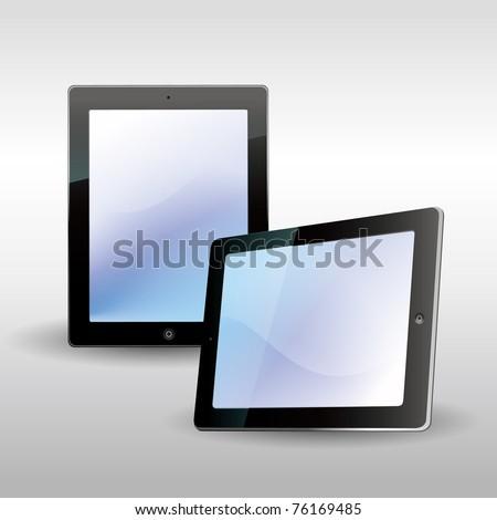 tablet computer - stock vector