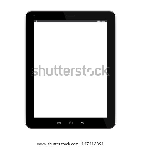 tablet computer black isolated