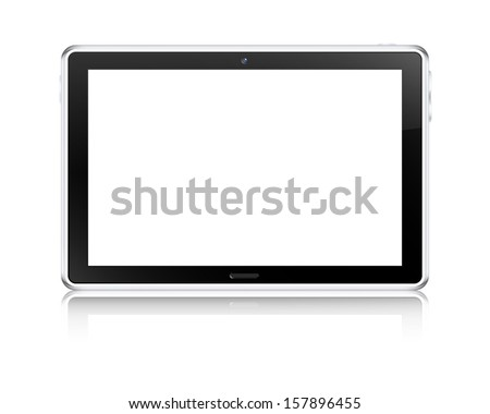Tablet computer concept. Vector illustration. - stock vector