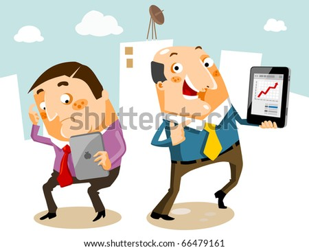 Tablet Computer fever. Vector illustration - stock vector