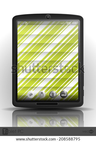 Tablet Computer & Mobile Phone. Vector Illustration. Eps 10. - stock vector