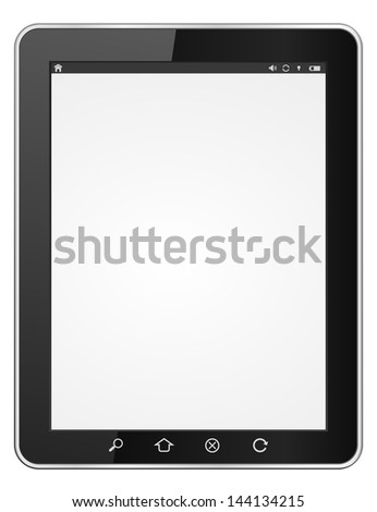 tablet computer original design icon - stock vector