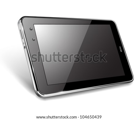 Tablet computer, vector illustration - stock vector