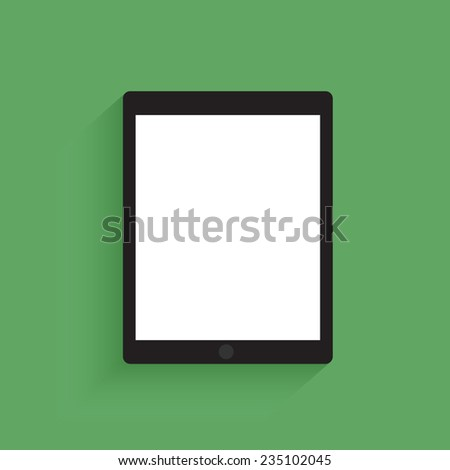 Tablet computer with blank screen. - stock vector