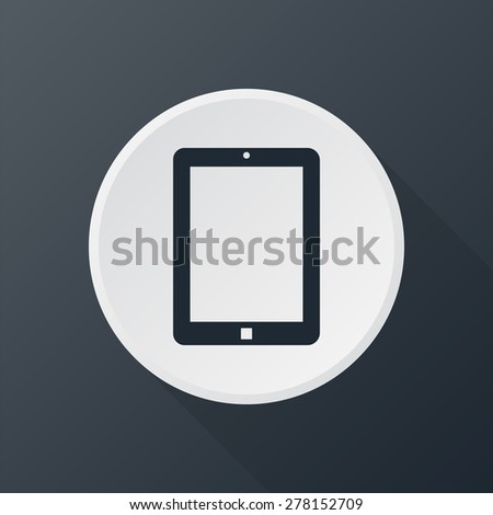 tablet icon - stock vector