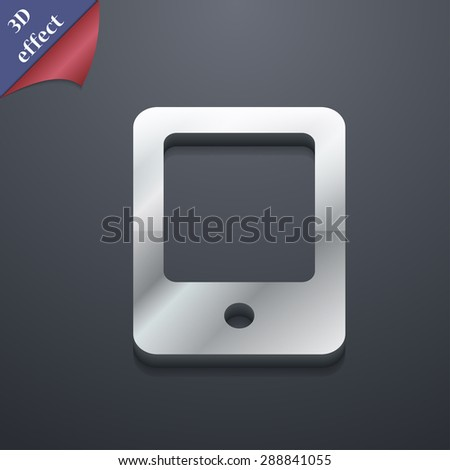 Tablet icon symbol. 3D style. Trendy, modern design with space for your text Vector illustration - stock vector