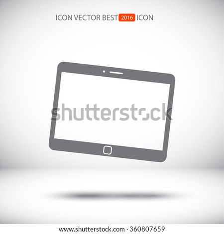 tablet icon . Vector  Eps 10