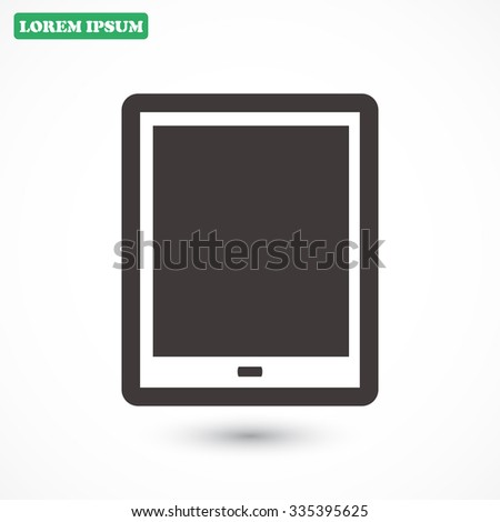 tablet . line vector icon - stock vector