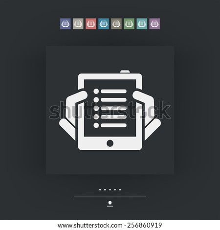 Tablet list icon - stock vector