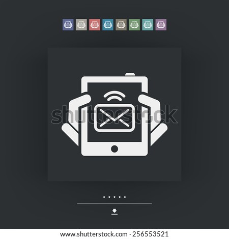 Tablet message icon - stock vector