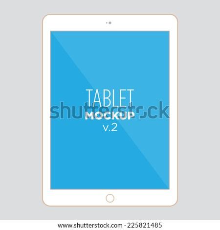 tablet mock up v2 - stock vector