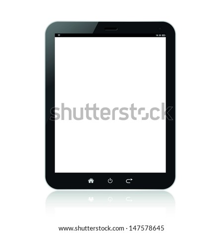 Tablet pc computer - stock vector