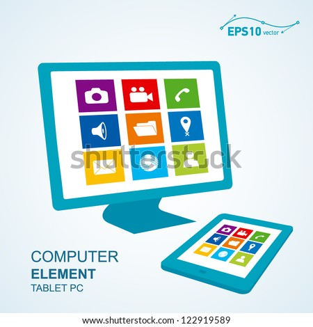 tablet pc computer display / vector no effect - stock vector