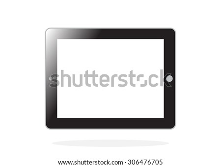 tablet pc computer with blank screen isolated on white background in Vector