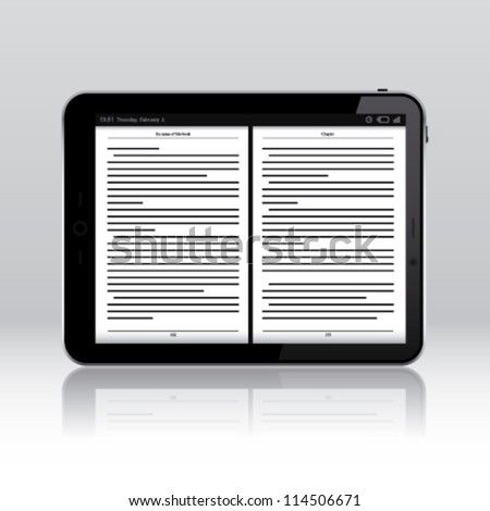 Tablet pc ebook application