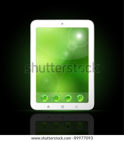 Tablet PC illustration - stock vector