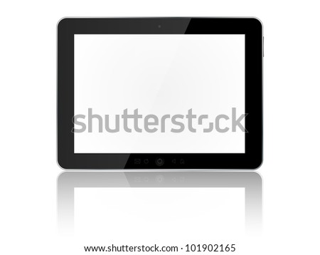 Tablet pc isolated on white background. Vector illustration.