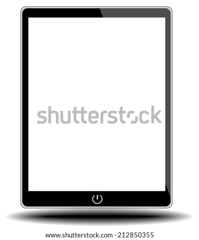 tablet pc on white background from illustrator - stock vector