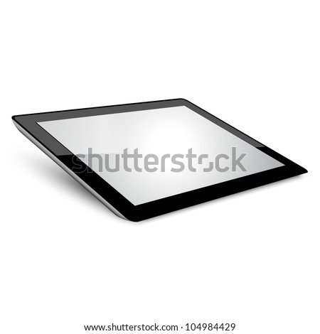 Tablet pc Variant without background. - stock vector