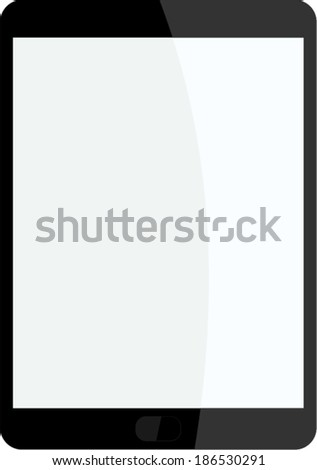 tablet vector - stock vector