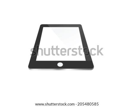 Tablet Vector illustration - stock vector