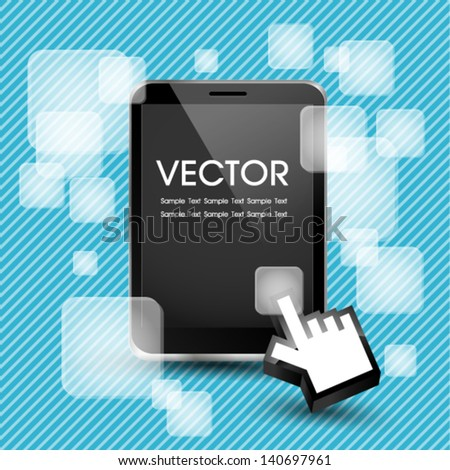 Tablet with Applications - stock vector