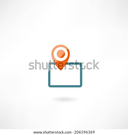 tablet with navigation icon - stock vector