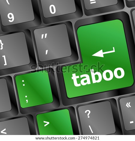 taboo button on computer keyboard pc key vector