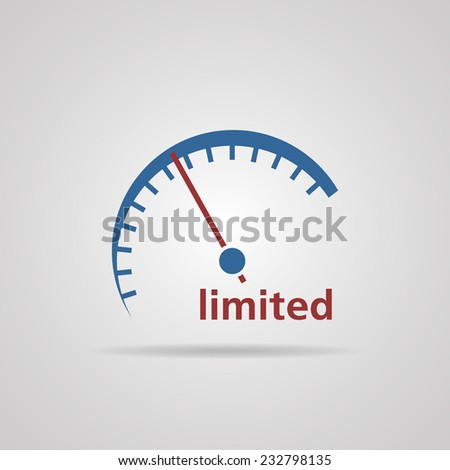 Tachometer, Speedometer symbol of limited speed, business concept. vector illustrations  - stock vector