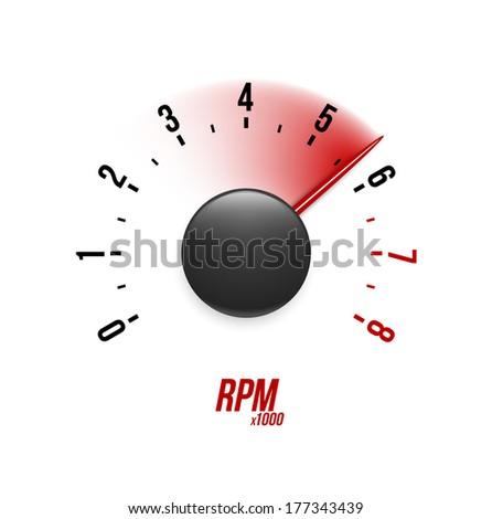 Tachometer. Vector illustration. - stock vector