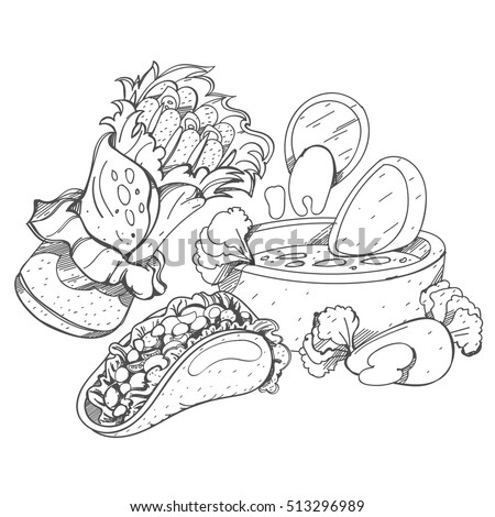 Nachos coloring coloring pages for Nachos coloring page
