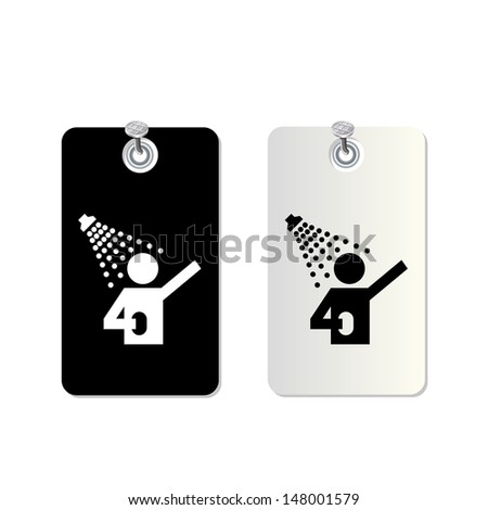 tag bathroom symbol for use - stock vector