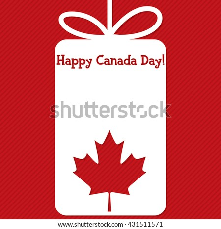 Tag Canada Day card in vector format. - stock vector